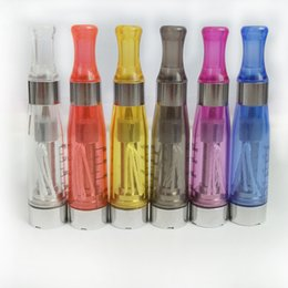 Wholesale Ego Mouth Tips - Clear Transparent Mouth Tip E Cigarette CE4 Atomizer Cartomizer 4 Wick Clearomizer 1.6ML Tank For Ego T W K 510 Various Colors Free Shipping