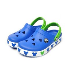 Wholesale Leather Sandals Girls Kids - Children Sandals Beach Shoes For Girls Boys Kids Rubber Mules Clogs Summer Shoes Breathable Outdoor Slippers Children's Footwear