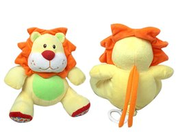 Wholesale Plush Soft Lion - Wholesale- 1PC Musical Bed Stroller Cot Bed Hanging Crib Mobiles Soft Lion Infant Plush Rattles Educational Toys For Newborns Babies Xmas