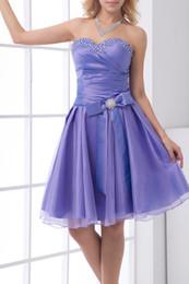 Wholesale Sexy Mini Dresses Buy - Buy 2017 New Modest Prom Dresses A-Line Sweetheart Sleeveless Natural Lace-up Short Mini Taffeta Beading Evening Dresses