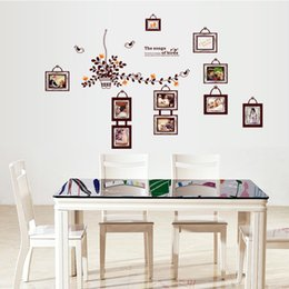 Wholesale Dining Stickers - 60*90cm Cute Birds Photo Frame Wall Stickers DIY Art Decal Removeable Wallpaper Mural Sticker for Bedroom Living Room Dining Room AY9224