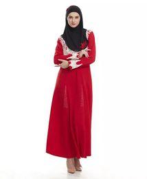 Wholesale islamic women pictures - Malaysia Abaya Clothes Turkey Muslim Women Embroidery Dress Pictures Turkish Women's Clothing Turkey Robe Islamic Dubai Dresses Longo Giyim