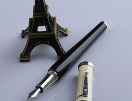 Wholesale Fountain Pen Collection - Wholesale- Garbo Greta Collection Black White Office Fountian Pen Pearl On Clip