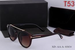Wholesale Pink Leopard Tops - Top Quality New Fashion Tom Sunglasses For Man Woman Erika Eyewear Designer Brand Sun Glasses Matt Leopard Gradient Lenses Box Cases