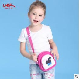 Wholesale Neoprene Bags Children - UEK Cute Cartoon Animal Children Shoulder Bags Kindergarten Neoprene Waterproof School Bag Girls Handbag Kids Coin Purse Pink Rabbit Dog
