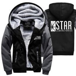 Оптово- С.Т.А.Р. STAR labs толстовки теплый флис сгущают мужские кофты зимние флеш куртка модное пальто M-4XL на молнии с капюшоном cheap flash jackets от Поставщики флеш-рубашки