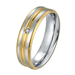 Wholesale Mens Rings Stones - Classic Steel Mens Rings with Gift Box White Stone Setting Party Engagement Jewelry College Boys Male Ring Wholesale Gifts RG-125