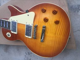 Wholesale Maple Finish - Custom Shop Billy Gibbons Tribute Flame Maple Top Aged 1959 Relic Elecitrc Guitar Vintage Sunburst Finish Collectors Choice #1 Top Selling