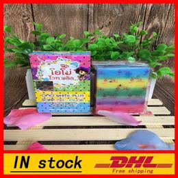 Wholesale Whitening Soap Sale - 20pcs Hot sale ! Gluta Whitening Soap rainbow soap OMO White Mix Fruits Color Alpha Arbutin Anti Dark Spot free shipping