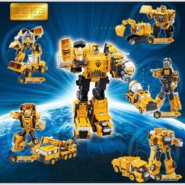 Wholesale Alloy Construction - Alloy Engineering Transformation Robot Car Deformation Toy 2 in 1 Metal Alloy Construction Vehicle Truck Assembly Robot Kid Toys