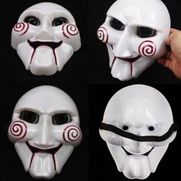 Wholesale Nice Costumes - Chainsaw Killer Theme Masquerade Masks Halloween DIY Gift Halloween Cosplay Costume Funny Full Face Mask Nice Quality