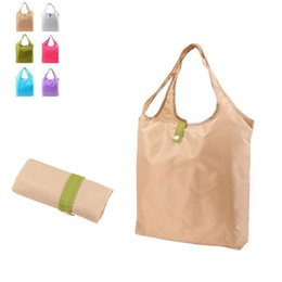 Wholesale Free Groceries - Foldable Waterproof Shopping Bag Reusable Grocery Bags Durable HandBag Travel Home Storage Accessories Free Shipping ZA4200