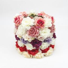Fasce americane online-Europa e America nuova moda caldo copricapo bohemien spiaggia rosa fiore fascia nuziale capelli fascia