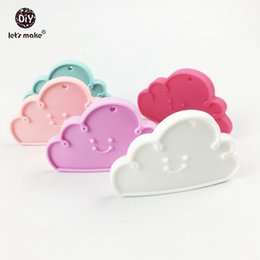Wholesale Wholesale Silicone Teething Beads - Wholesale- Silicone Clouds Teether (5pc) Chewable Silicone Beads Pendant BPA Free Safe and Natual Nursing Necklace Teething Accessories