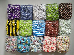 Wholesale Double Gussets - Naughty Baby Cloth Diapers One Size Adjustable Washable Reusable for Baby Girls and Boys With Double Gussets