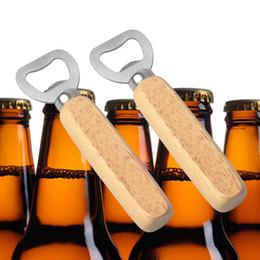 outil de coiffage de la bière Promotion DHL Cuisine Ouvreur De Bouteille Outils En Acier Inoxydable Manche En Bois Bière Ouvreurs Bar Outils Soda Bière Bouteille Cap Ouvreur Cadeaux