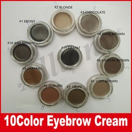 Wholesale Wholesale Hot Chocolate Mix - Hot Eyebrow Gel Long Lasting Eyebrow Cream Makeup Eyebrows Cosmetics 10 Colors ASH BROWN BLONDE CARAMEL DARK EBONY MEDIUM BROWN CHOCOLATE