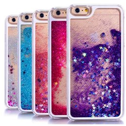 Casi liquidi dinamici online-Liquid Bling Glitter Quicksand Case per iPhone 7 7Plus 6 6s 6Plus 6sPlus Samsung S8 S7 S6 Custodia Quicksand Liquid Dynamic Clear Case