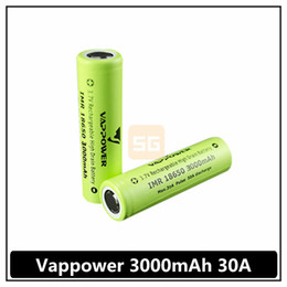 Wholesale High Rate Battery - High quality 30A Vappower 18650 3000mah high discharge rate e-cig battery better performance than VTC4 VTC5 Free Shipping