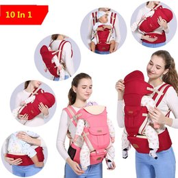 Wholesale Horizontal Baby Carrier - New ergonomic backpack baby carrier multi-function breathable Infant carrier backpacks carriage toddler sling wrap suspenders+seat b1146