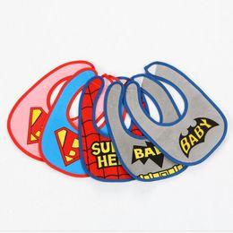 Wholesale Cheap Baby Girl Waterproofs - 2016 baby cartoon bib cheap kids cotton bib 0-3 years new monster spiderman boy and girl waterproof bib in stock 20PCS A27