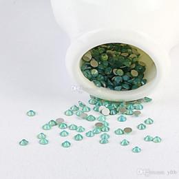 Wholesale Diy 3d Flatback - Beyond Better - 1440pcs pack Green Opal Ss4-ss12 Rhinestone For Nails Crystal Glue On Non Hotfix Flatback Bead 3d Nail Art Decorations Diy