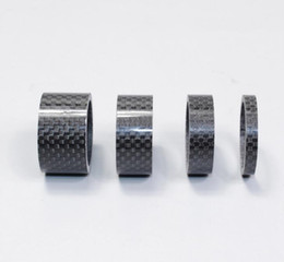 Wholesale Mountain Headset - 4PCS Bicycle Full Carbon Headset Spacer Carbon Fiber Gasket 1-1 8