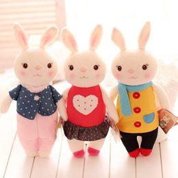 Wholesale Tiramisu Cute - Wholesale- 35cm Metoo Toys Tiramisu Rabbits Super Quality Cute Rabbits Stuffed Animals Prefect Gifts For Girls And Children