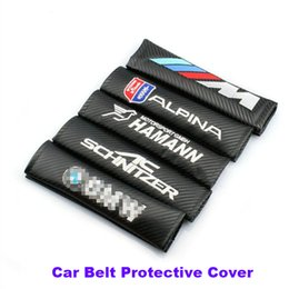 Wholesale Bmw E91 - Practicality 2pcs Car Seat Belts Padding Cover For E60 E90 F10 F30 F15 E63 E64 E65 E86 E89 E85 E91 E92 E93 F02 M5 E61 F01 M M3