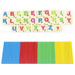 Wholesale Wooden Math Sticks - Children Wooden Numbers Stick Mathematics Early Learning Counting Educational Math Toys for Children Kids Gift