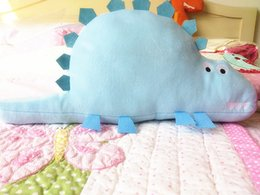 Wholesale Dinosaur Beds - cartoon dinosaur plush cushion pillow dinosaur pillow children bedding home