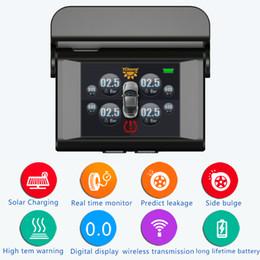 Wholesale Solar Power Monitors - Solar power Tire Pressure Monitoring System Car TPMS with 4 pcs External Sensors high Low pressure high temperature warnings TPMS