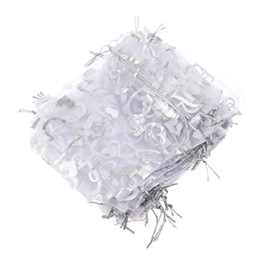 Wholesale Organza Gift Bag Silver - Wholesale- DHDL-25X Silver Organza Wedding Favor Gift Bag Pouch 12x10cm