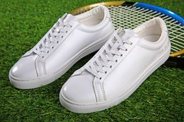 Wholesale Handmade Women Shoes - Original Common Projects white Shoes Women Men Spring Handmade White Genuine Leather Sheepskin Casual Shoes Scarpe Donna Femme Mujeres