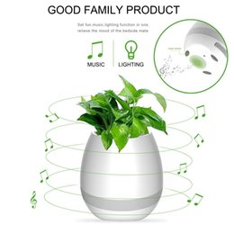 Wholesale Touches Piano - Music Flowerpot Smart Touch Music Plant Lamp Rechargeable Wireless Play Piano on a Real Plant Musical Boxes Bluetooth Speaker Night Light