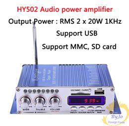 Canada Hi-Fi HY502 Audio amplificateur de puissance USB MP3 DVD CD FM SD Lecteur numérique pour moto amplificateur de puissance stéréo automatique Offre