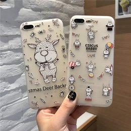 Wholesale Iphone Holiday Case - TPU+Pink Holiday Relief Pattern soft case cover for iphone 6 6s plus 7 7plus back case cover