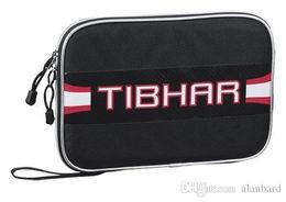Wholesale Table Tennis Racket Bag - Hot- - Tibhar square Shape pingpong cover 321101 Table Tennis racket single layer bag