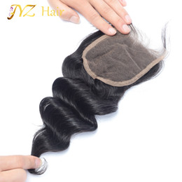 Wholesale Peruvian Wavy Lace Closure - JYZ Malaysian Lace Closure 8-20inch 100% unprocessed loose wave human hair closure Free Middle 3 Part natural wet and wavy