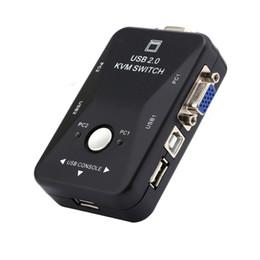 2019 moniteur de sortie vidéo Livraison gratuite Nouveau commutateur KVM USB VGA 2 ports Splitter Controller Auto Keyboard Mouse Printer Jusqu'à 1920 * 1440
