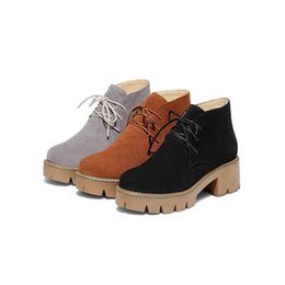 Wholesale Wide Ride - 2017 new women boots autumn winter women riding boots high heel thick heel women's boots Genuine Leather