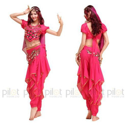 Wholesale Indian Bollywood Dancing - 2017 NEW Arrival Oriental Dance Costumes Bollywood Indian Dress 3PCS Belly Dance Vestido Suit For Women 6 Colors