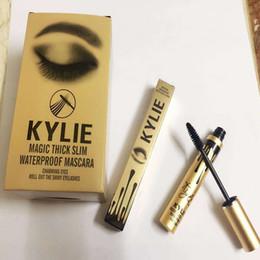 Wholesale Mascara Charm - Gold Leo Birthday Edition Kylie Jenner Mascara Magic thick slim waterproof mascara Black Eye Mascara Long Eyelash Charming eyes Cosmetic