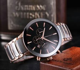 Wholesale High Quality Stainless Steel Clasps - High Quality Luxury Brand Roda Quartz Watch Men Black Dial Original clasp Stainless Band Male Watch Free Shipping Hkpost