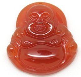 Agate naturelle Maitreya Bouddha Pendentifs couleur rouge livraison gratuite pas de verre ? partir de fabricateur