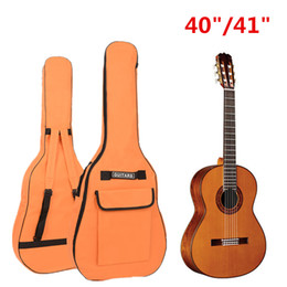 """Wholesale Waterproof Gig Bag - Portable Double Straps Oxford Fabric Gig Bag for 40""""   41"""" Acoustic Guitar Soft Waterproof Guitar Case Backpack"""