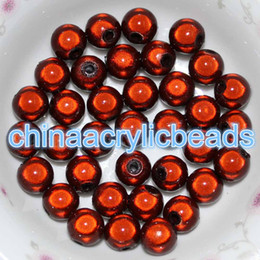 Wholesale Gold Loose Beads For Jewelry - 30Pcs 14MM Acrylic Plastic Round Miracle Beads 3D Illusion Chunky Beads for Jewelry Making Loose Spacer Charms