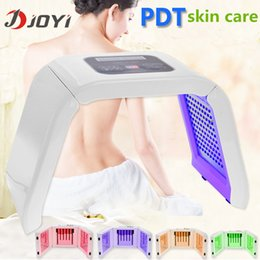 Wholesale Led Red Blue Light Therapy - Light PDT LED Therapy Red Blue Green Yellow 4 Color Led Face Mask Light Phototherapy Lamp Machine For Skin Rejuvenation