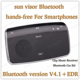 Wholesale Free Style System - Wholesale- mini car-styling Bluetooth MP3 Player sun visor fine clip hands-free intercom system with Bluetooth V4.1+EDR Music Receiver