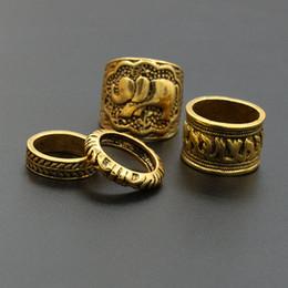 Wholesale Elephant Ring Gold White - 4PCS Set Fashion Vintage Bohemian Turkish Carved Midi Ring Set Stacking Punk Ring Elephant Snake Knuckle Rings